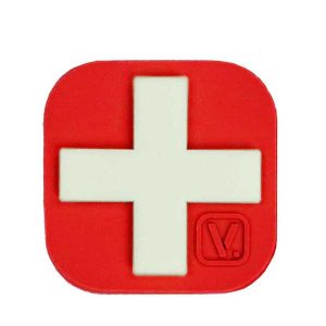 Medical Cross Patch RED