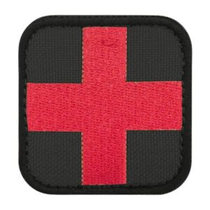 Condor Outdoor Medic Patch Black Red